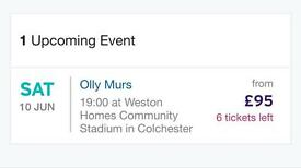 Olly Murs Concert Ticket