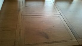 Extending Oak Dining Table & Eight Chairs - ASKING PRICE REDUCED