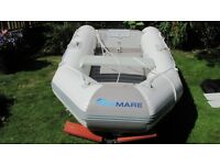 VIAMARE 250T DINGHY. PLUS LAUNCHING TROLLEY. PLUS BIMINI DINGHY TOP.