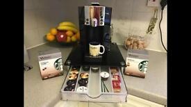 Starbucks Verismo Coffee Machine + tempered glass pod holder