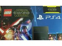 New Playstation 4 500gb with Lego ps4 star wars the force awakens