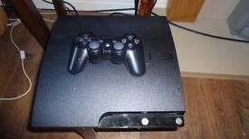 PLAYSTATION 3 PS3 SLIM CONSOLE AND PAD
