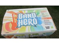 XBox 360 Band Hero Game Complete - Boxed Excellent Condition, includes Drums, Guitar and Microphone