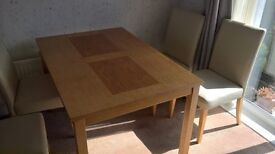 Teak dining table & 4Chairs