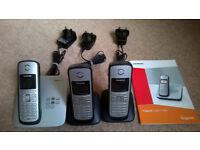 Siemens Gigaset C385 Triple DECT Phones and Answering Machine