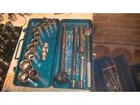 tool set sockets and ratchet 30 £ ring at any time 07956347752 john