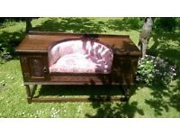 beautiful old oak telephone table
