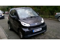 SMART FORTWO 999cc PASSION 71 AUTO 2007 57 REG BLACK / LEATHER A/C PANORAMIC ROOF 53K NOT STARTING!