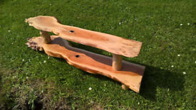 Hand made double Yew shelving/shoe rack for sale