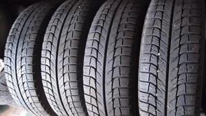 215/60R16 98% TREAD MICHELIN X-ICE SET OF 4 WINTER TIRES WITH STELL RIMS