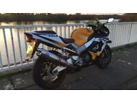 Honda fireblade cbr 929 yellow white blue sports bike