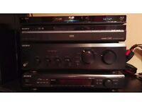 Sony amplifier, Sony fm , Sony RDR-HXD870 video recorder, Sony Blu-ray 3D WiFi 2x Sony speakers