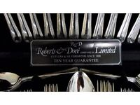 Roberts & Dore (Sheffield) Ltd 44 piece canteen of Silver Plated cutlery in Bead design