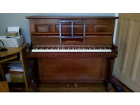 Piano 1930s upright model Broadwood white and co