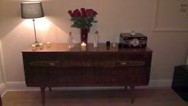 Retro Vintage High Gloss Veneer Sideboard