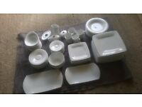 Quality white porcelain crockery/dinner set