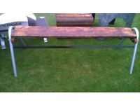 industrial rustic bench