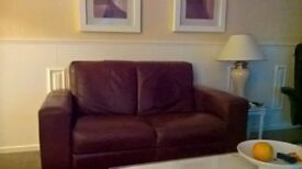3&2 seaters brown leather sofas absolute bargain