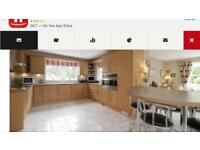 Kitchen Cabinets inc Large Cooker, Extractor and Hob