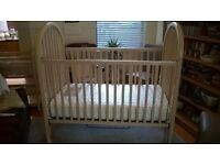 Baby cot (crib) and changing table