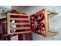 pair of occasional / dining chairs oak antique