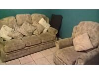3 seater and arm chair for sale