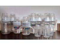 Avent Bottles with milk powder dispensers