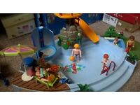 playmobil swimming pool and harbour cafe