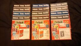 JOB LOT OF 13 GIBBONS STAMP MONTHLY MAGAZINES - £1 EACH