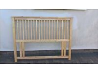 Wooden headboard for double bed