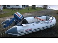 Inflatable Dinghy with 14hp outboard