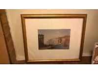 Gold leaf framed print of Venice central London bargain