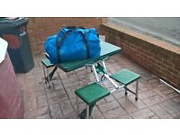 TENT FOLDING TABLE/CHAIRS/ SUN CANOPY