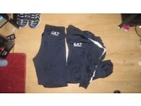 Armani Full Tracksuit - Dark Blue And White - XL