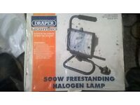 light draper 500w freestanding work lamp new still in box