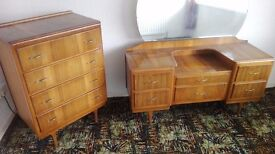 Old matching deco bedroom furniture