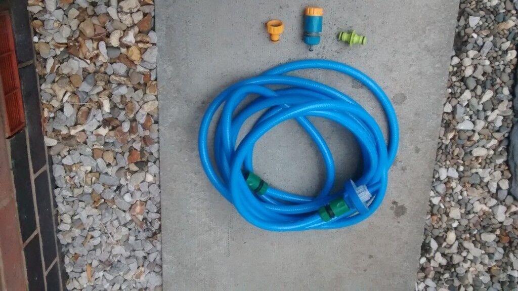 Food grade water hose, 1 * 7.5 metres, with connectors.   in Wrexham ...
