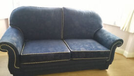 3 and 2 seater chenille sofas