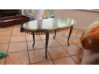 Green Onyx oval coffee/occasional table