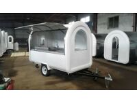 Mobile Catering Trailer Burger Van Hot Dog Cart Ready To Work 2800x1600x2300