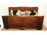 ART DECO DOUBLE BED solid oak imported from Germany