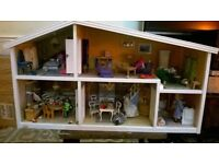 Lundby Fully Furnished X Display Dolls House