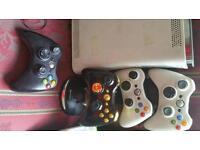 Xbox 360 with games headphones etc