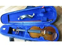 Stentor violin 1/2 size with case, bow +Wolf Forte Secondo shoulder rest.
