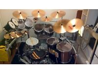 8-Piece Pearl Export EXX in Smokey Chrome (inc. 8x Hardcase Drum Cases and 8x Evans Sound Off Mutes)