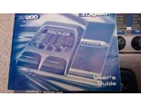 Digitech RP 200 guitar multi effects pedal
