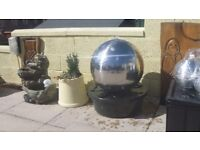 Polished 50cm Stainless Steel Sphere Water Feature, LED Lights Code: WF0922P £102 Dumfries