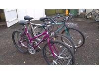 LADIES AND GENT ADULT MOUNTAIN BIKES 1 OF EACH both have 26 inch alloy wheels
