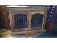 TV corner unit solid wood