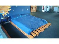 Pallet bed and mattress £50